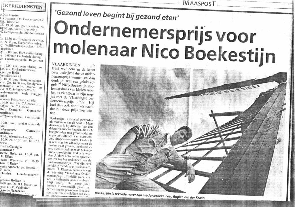 artikel-maaspost-1997-ondernemersprijs-voor-nico-boekestijn-jr