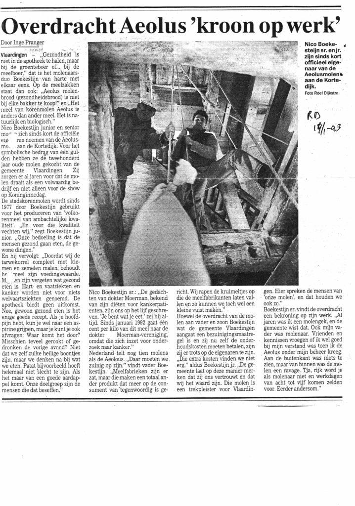 boekestijn-krantenknipsel-ad-14-1-1993-kroon-op-het-werk