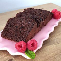 Donkere chocoladecake met framboos 400 gram